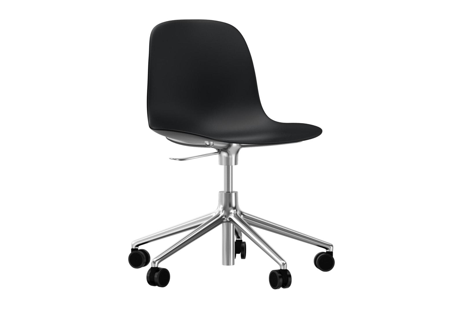 Form Swivel Chair 5W Gaslift NC Aluminium, Black