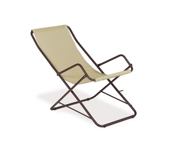 Bahama Deck Chair - Set of 4 Indian Brown/Beige