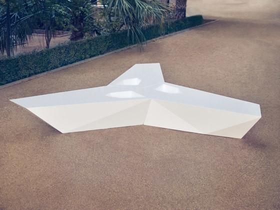 Faz Outdoor Bench White