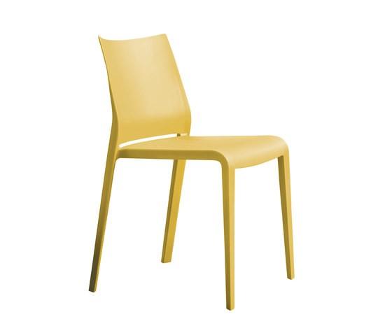 Riga 545 Stackable Chair Desalto Polypropylene Curry F37