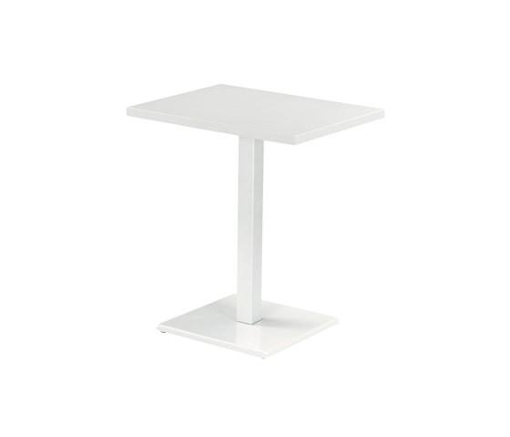 Round 70x50 Rectangular Table Matt White 23