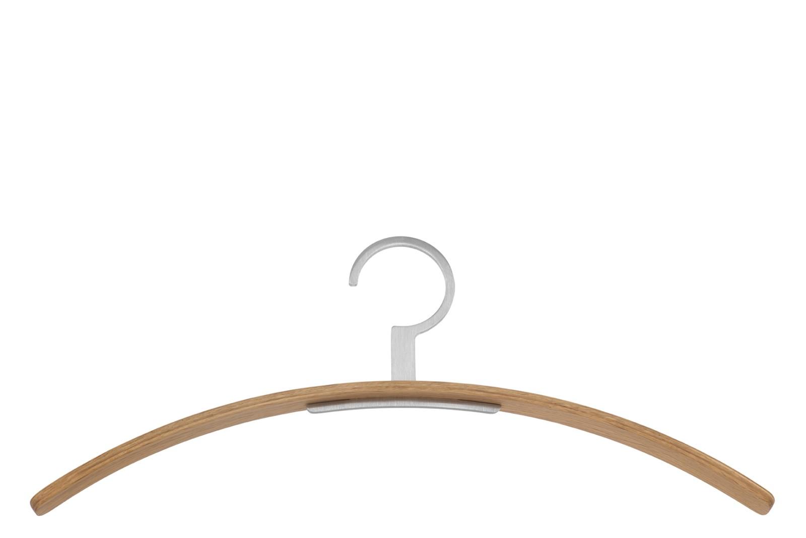 0130 Coat Hanger - Set of 4 49 Cacao, 90 Polished Chrome