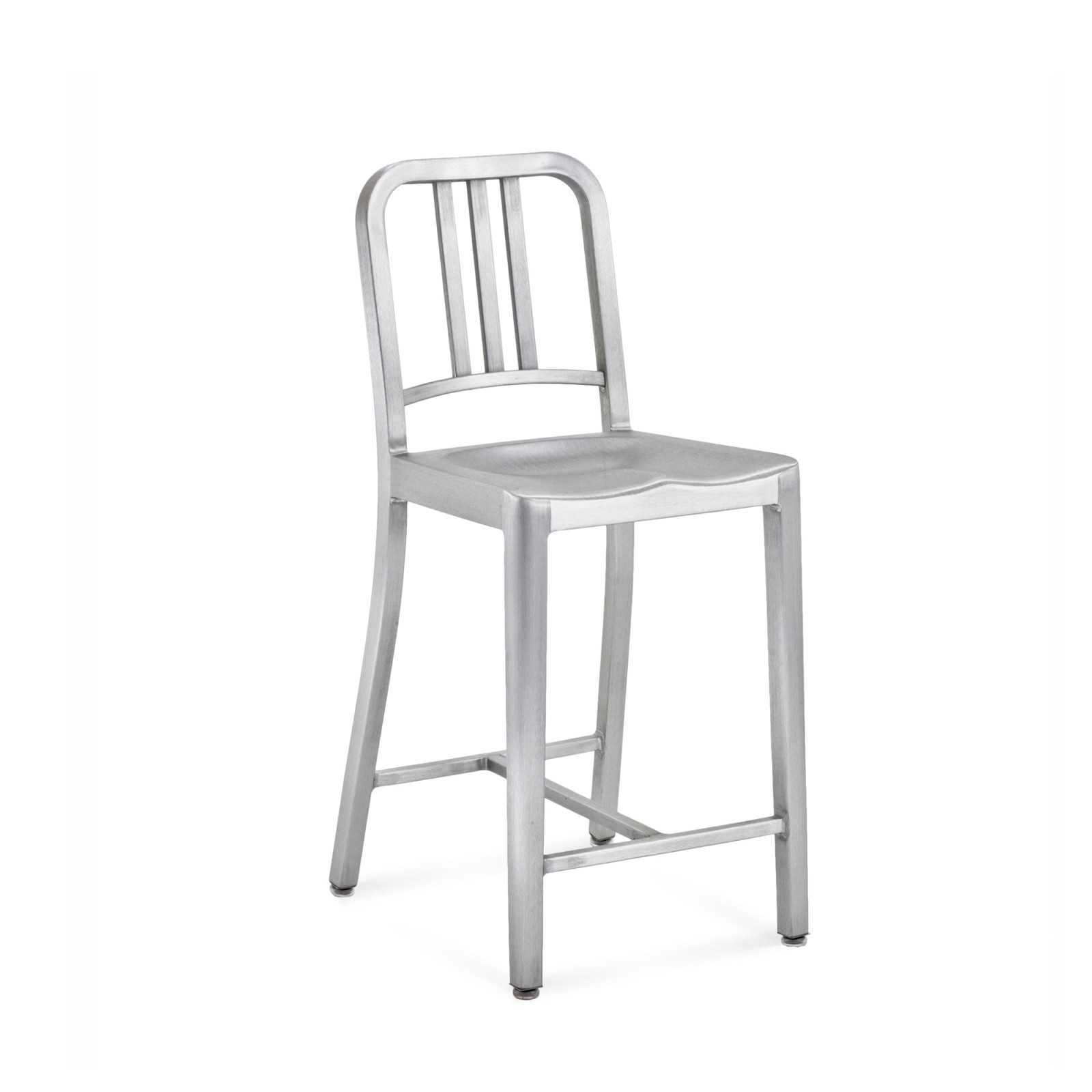 1006 Navy Counter Stool Hand Brushed