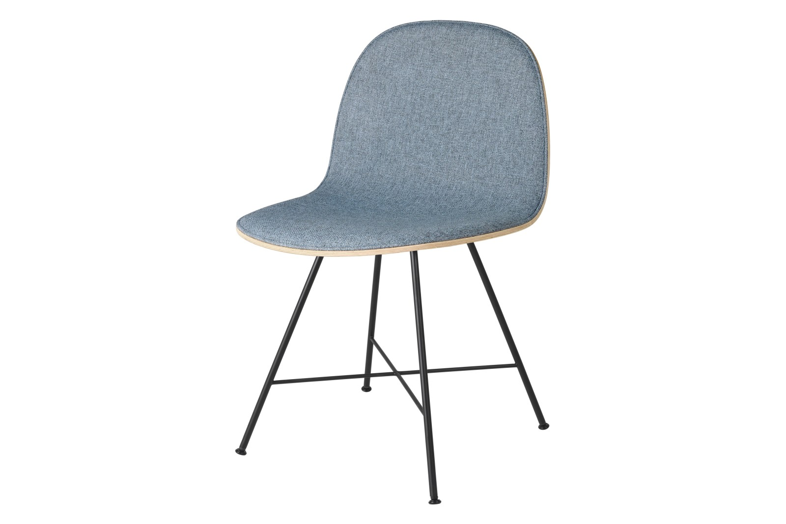 2D Dining Chair - Front Upholstered, Center base Gubi Wood American Walnut, Price Grp. 01