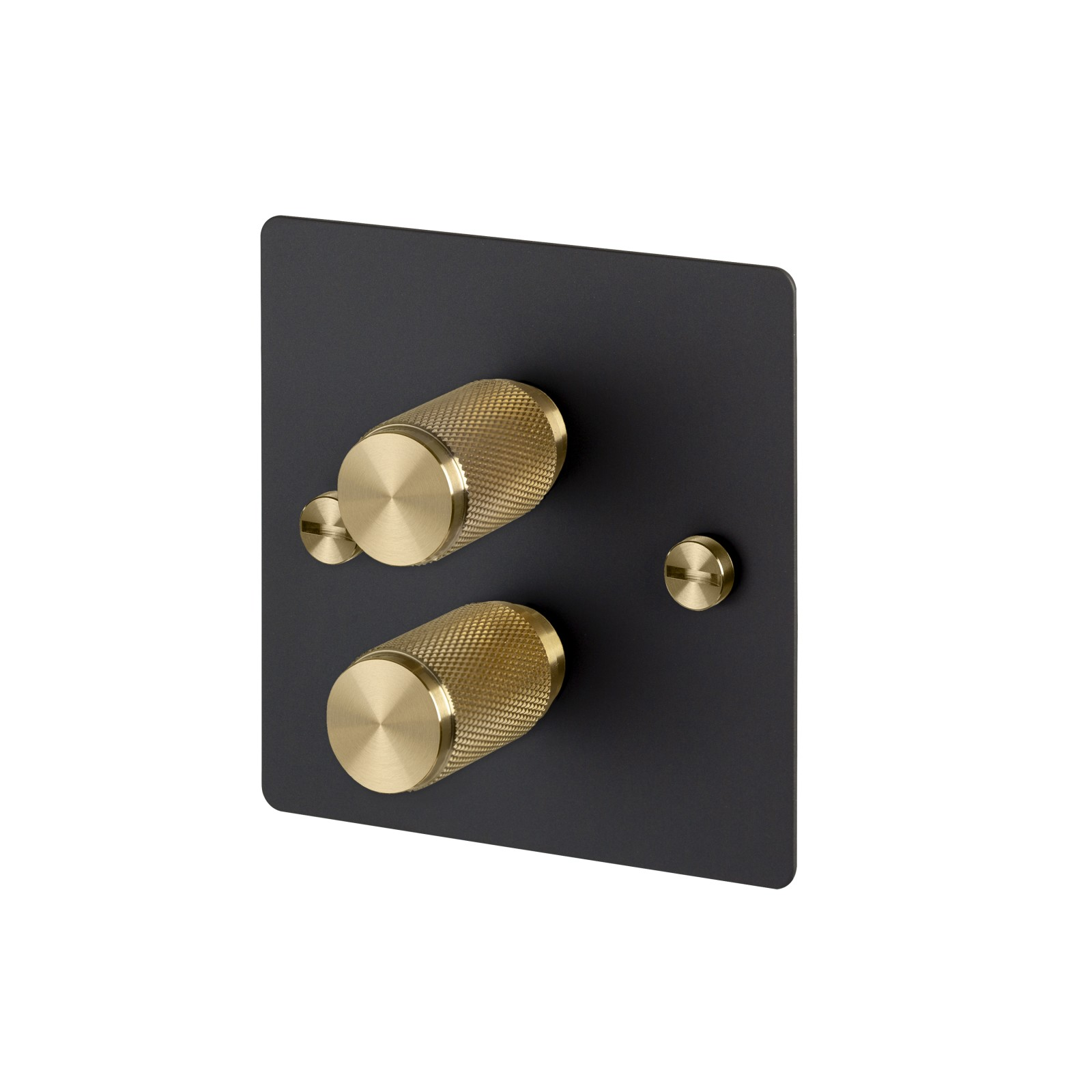 2G Dimmer Switch 2G Dimmer / Black / Brass