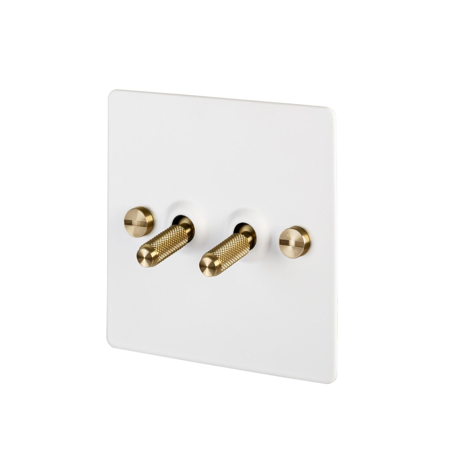 2G Toggle Switch 2G Toggle Switch / White / Brass