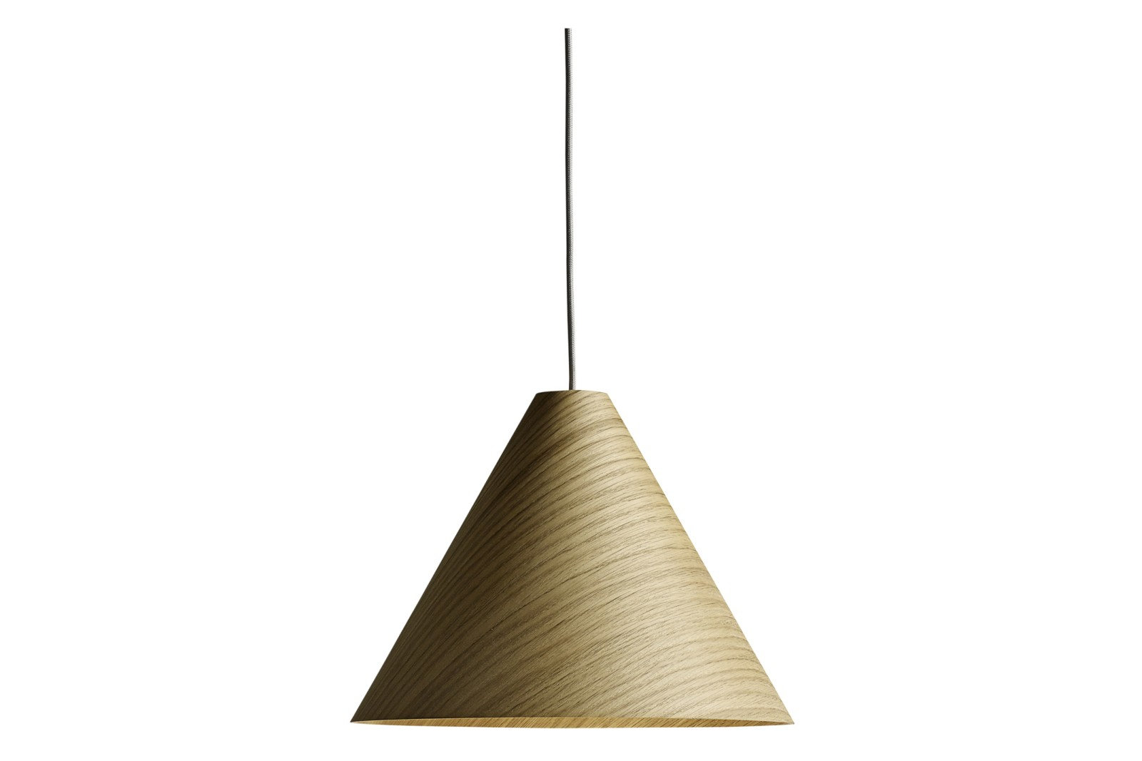 30 Degrees Pendant Light with Cord Set Wood Matt Oak / Grey / Medium