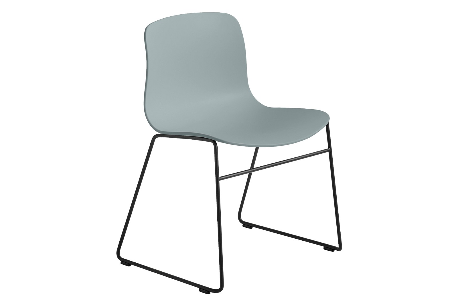 AAC 08 Dining Chair Metal Black, Plastic Dusty Blue