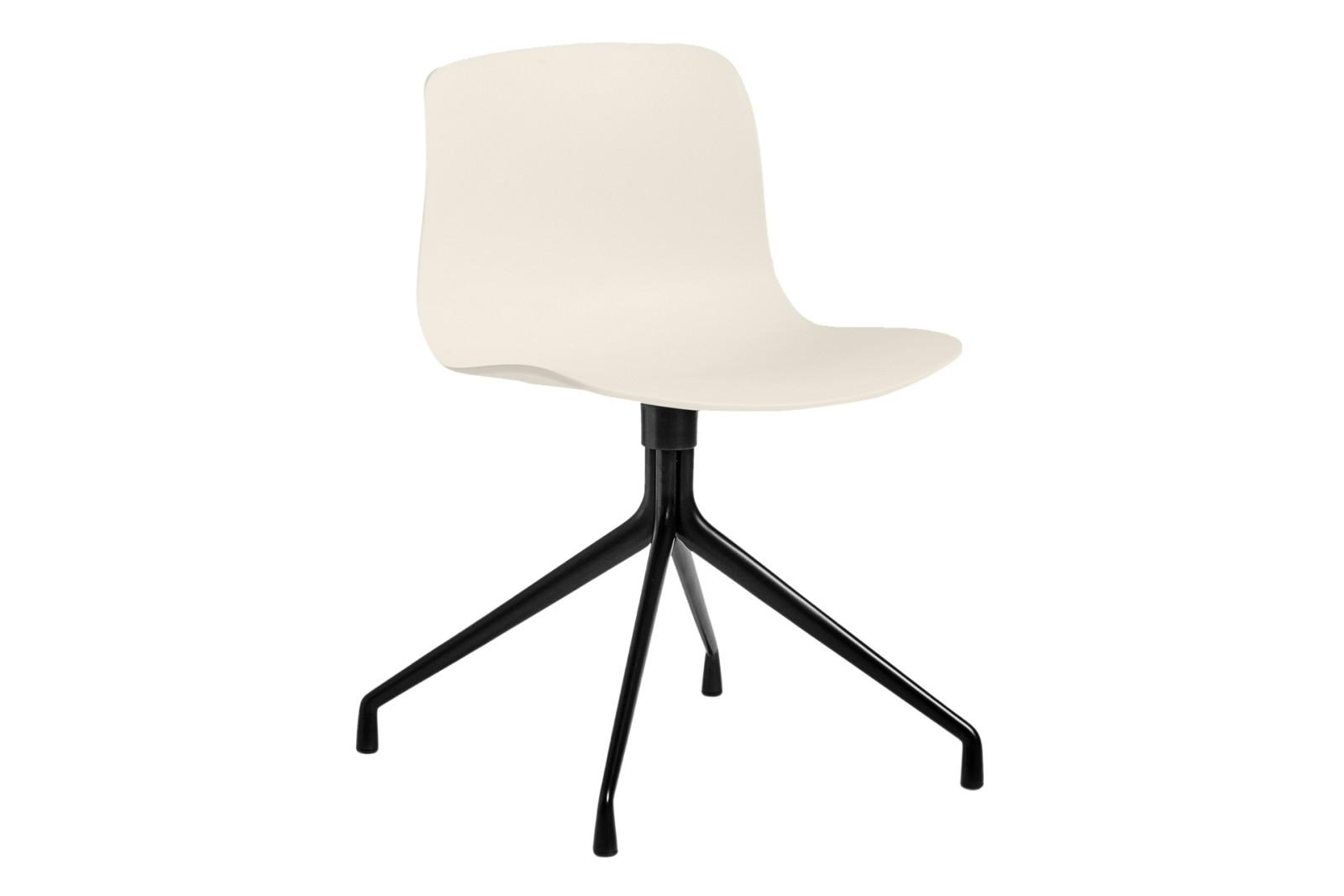 AAC 10 Meeting Chair Metal Black, Plastic Cream White