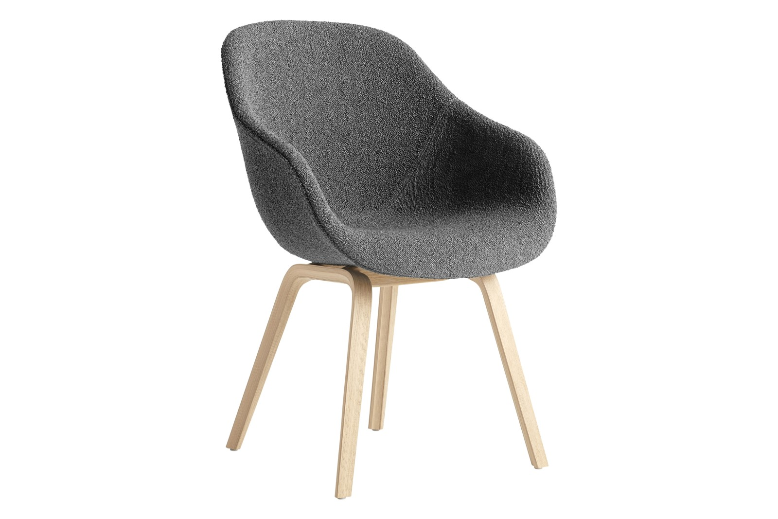 AAC 123 Dining Chair Fabric Group 1, Wood Black Oak