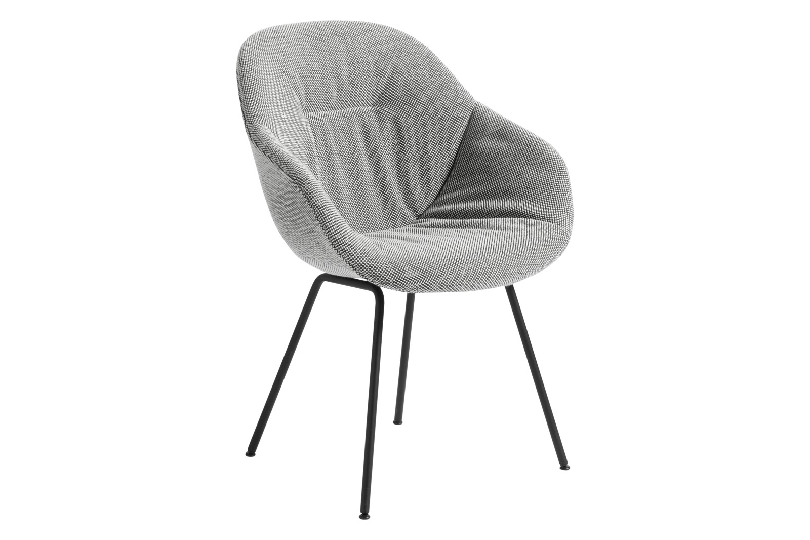 AAC 127 Soft Dining Chair Fabric Group 3, Metal Black