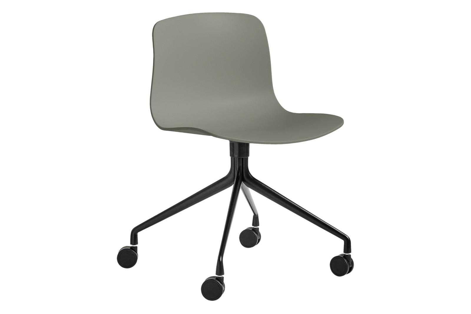 AAC 14 Meeting Chair Metal Black, Plastic Dusty Green
