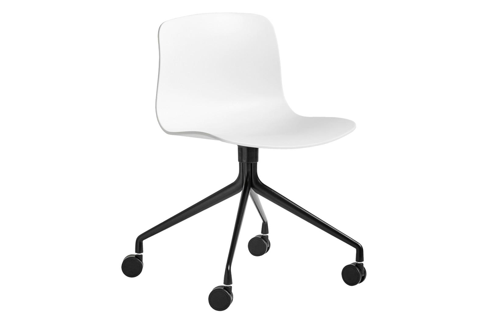 AAC 14 Meeting Chair Metal Black, Plastic White