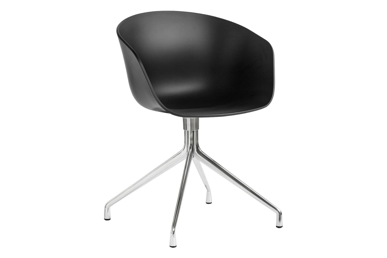 AAC 20 Meeting Chair Metal Polished Aluminium, Plastic Black