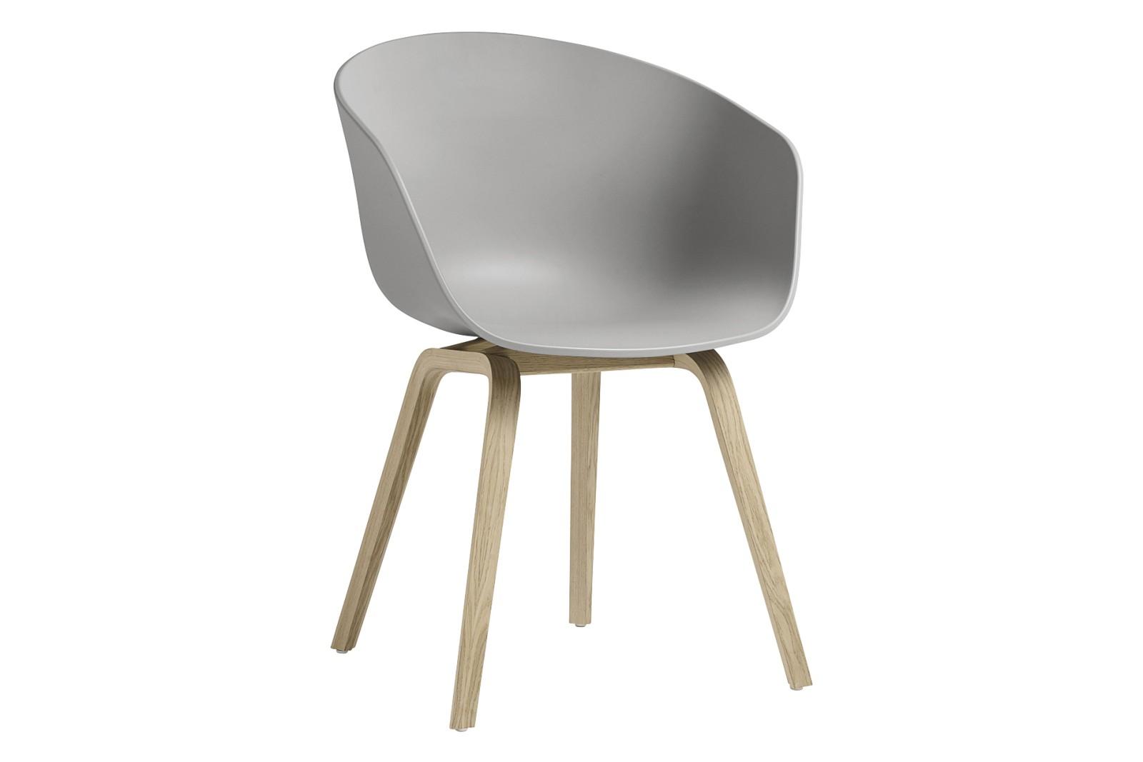 AAC 22 Dining Chair Wood Matt Oak, Plastic Concrete Grey