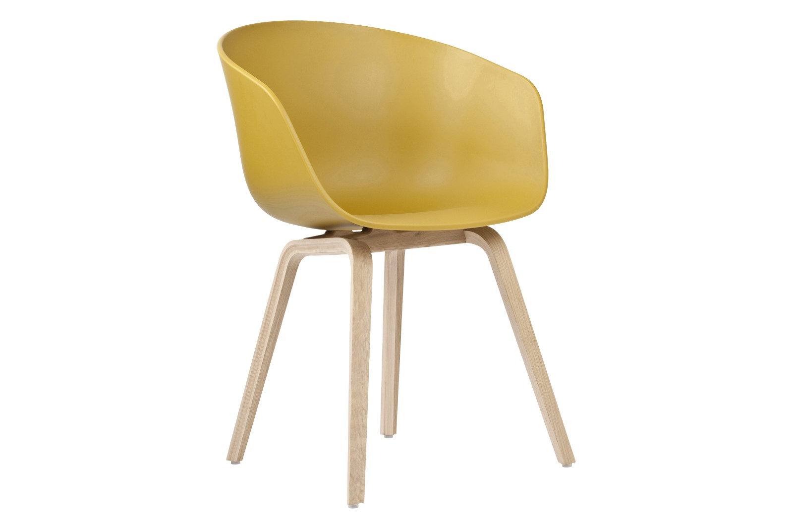 AAC 22 Dining Chair Wood Soaped Oak, Plastic Mustard