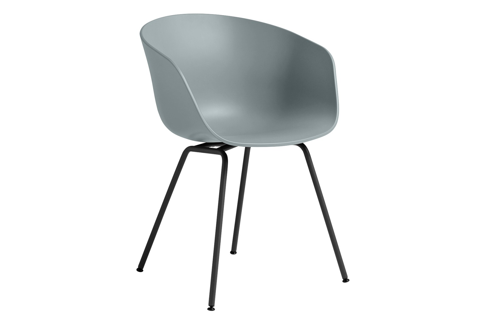 AAC 26 Dining Chair Metal Black, Plastic Dusty Blue