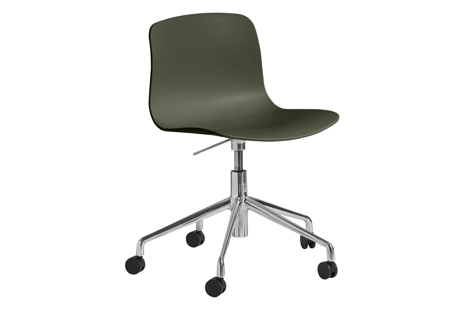 AAC 50 Meeting Chair Plastic Green, Metal Polished Aluminium