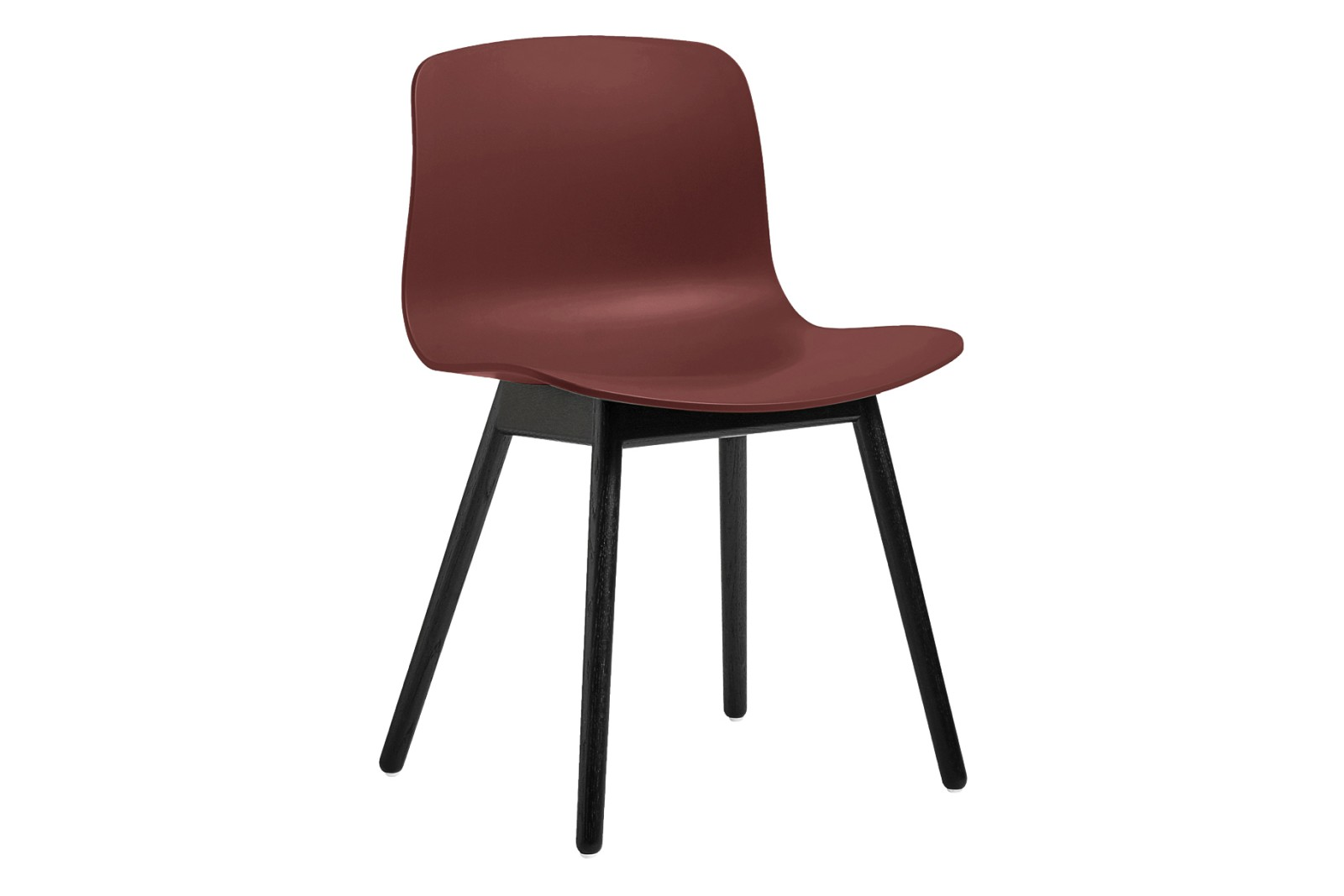 AAC 12 Dining Chair Wood Black Oak, Plastic Brick