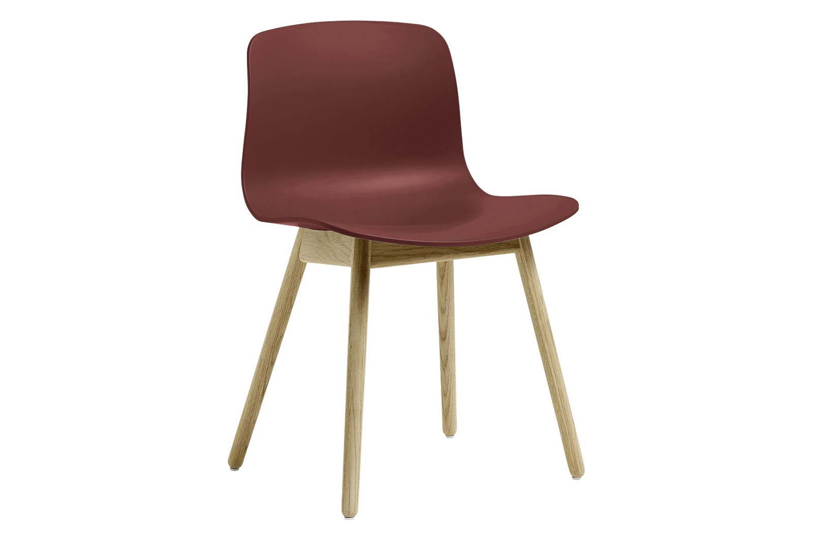 AAC 12 Dining Chair Wood Matt Oak, Plastic Brick