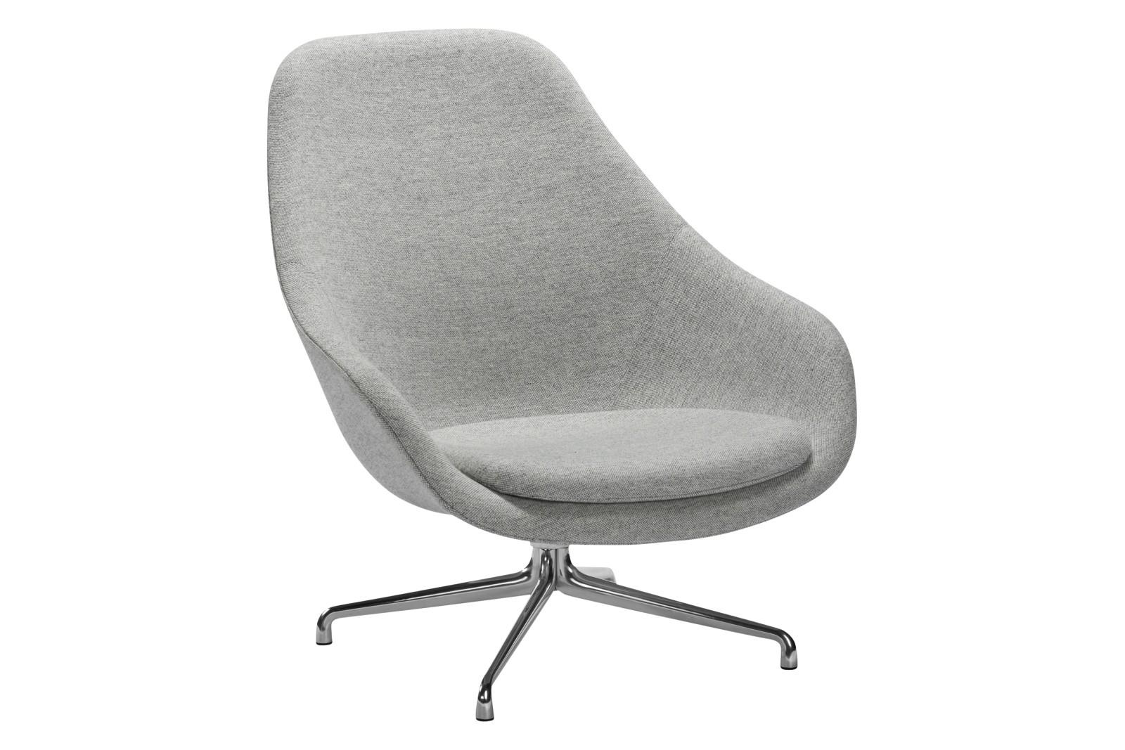 AAL 91 Lounge Chair - Fixed Seat Cushion Fabric Group 4, Metal Polished Aluminium