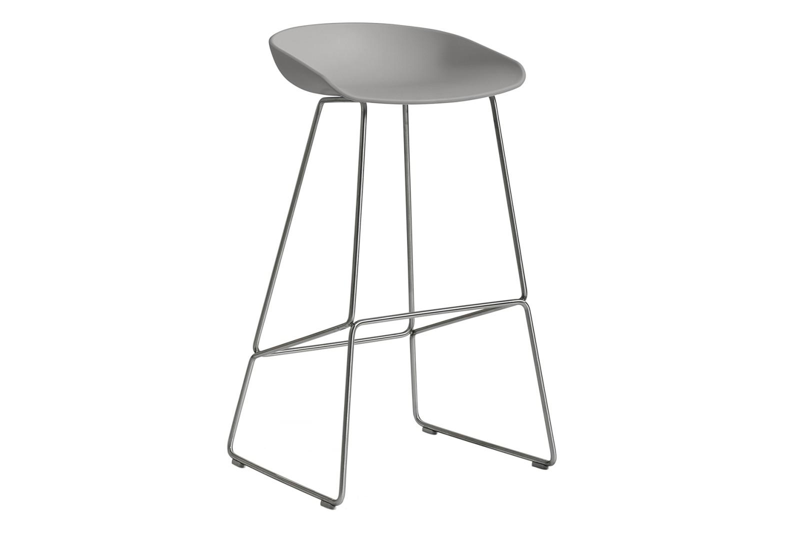 AAS 38 High Stool Metal Stainless Steel, Plastic Concrete Grey