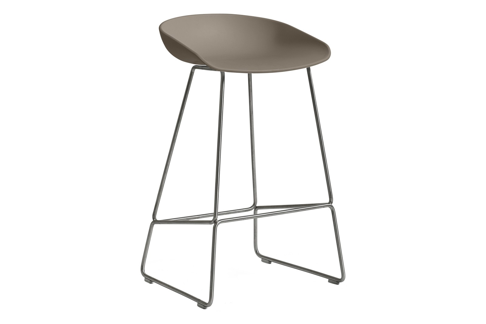 AAS 38 Low Stool Metal Stainless Steel, Plastic Khaki