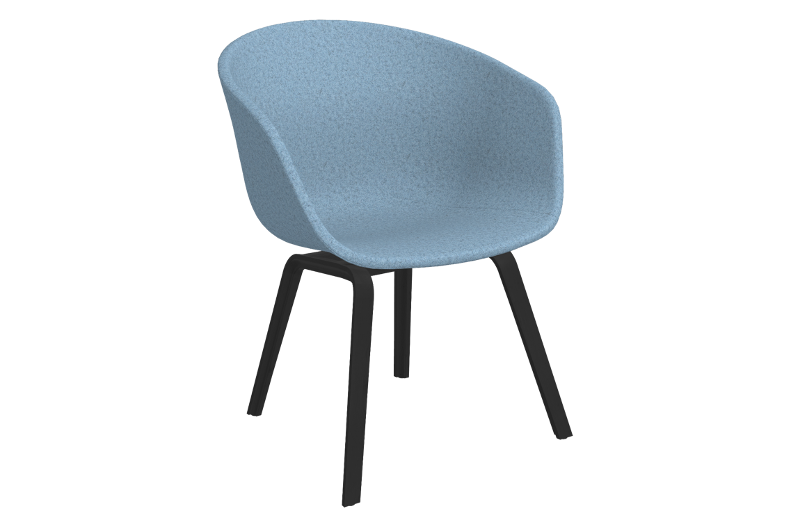 About A Chair AAC 43 Divina melange 2 731, Black Stained Oak veneer Frame, CMHR foam - No, Soft felt