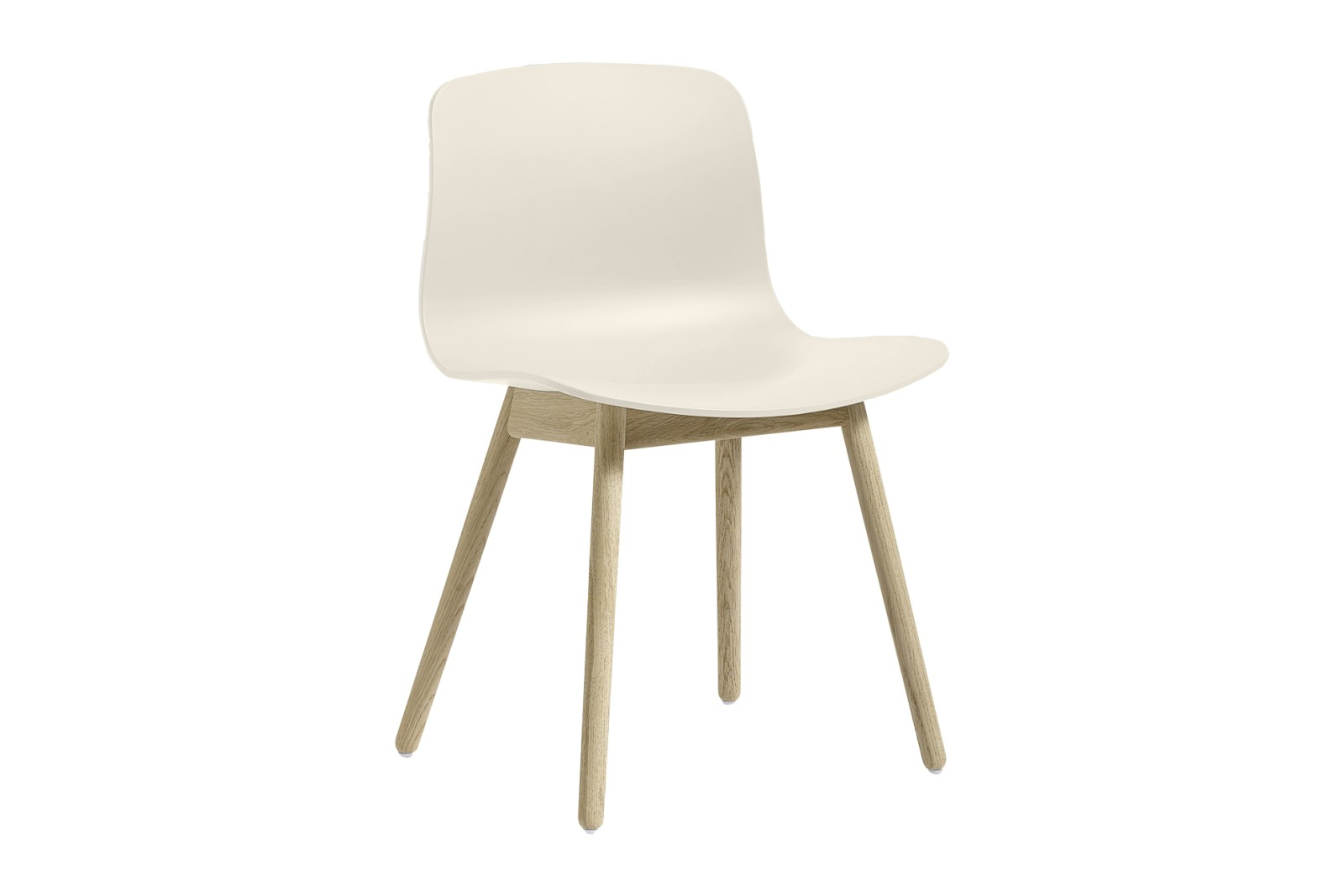About A Chair AAC12 Cream White Seat and Soap Treated Oak Base