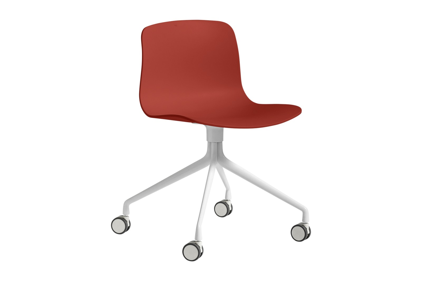 AAC 14 Meeting Chair Metal White, Plastic Warm Red