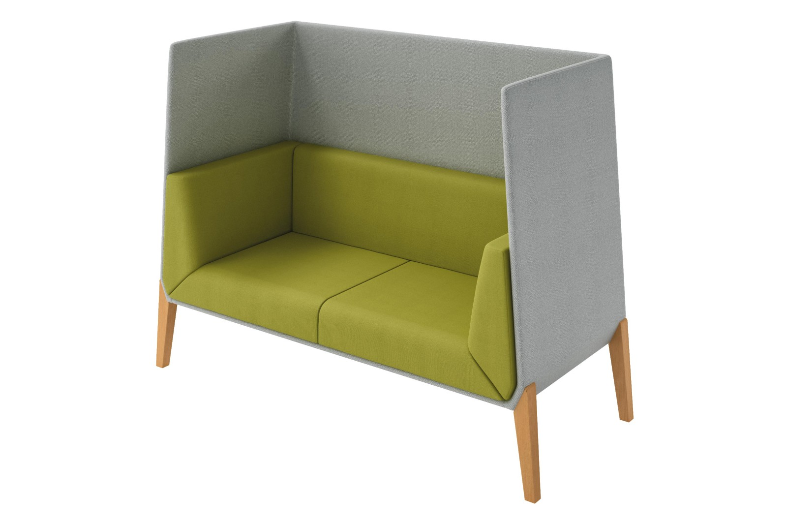 Accord 2 Seater Sofa High Backrest Pricegrp. C01, Pricegrp. C01, Beech wood