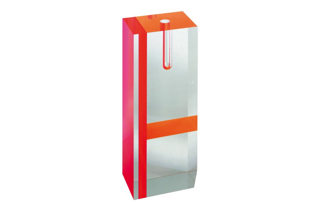 Acrilic Transparent Vase Red/Orange