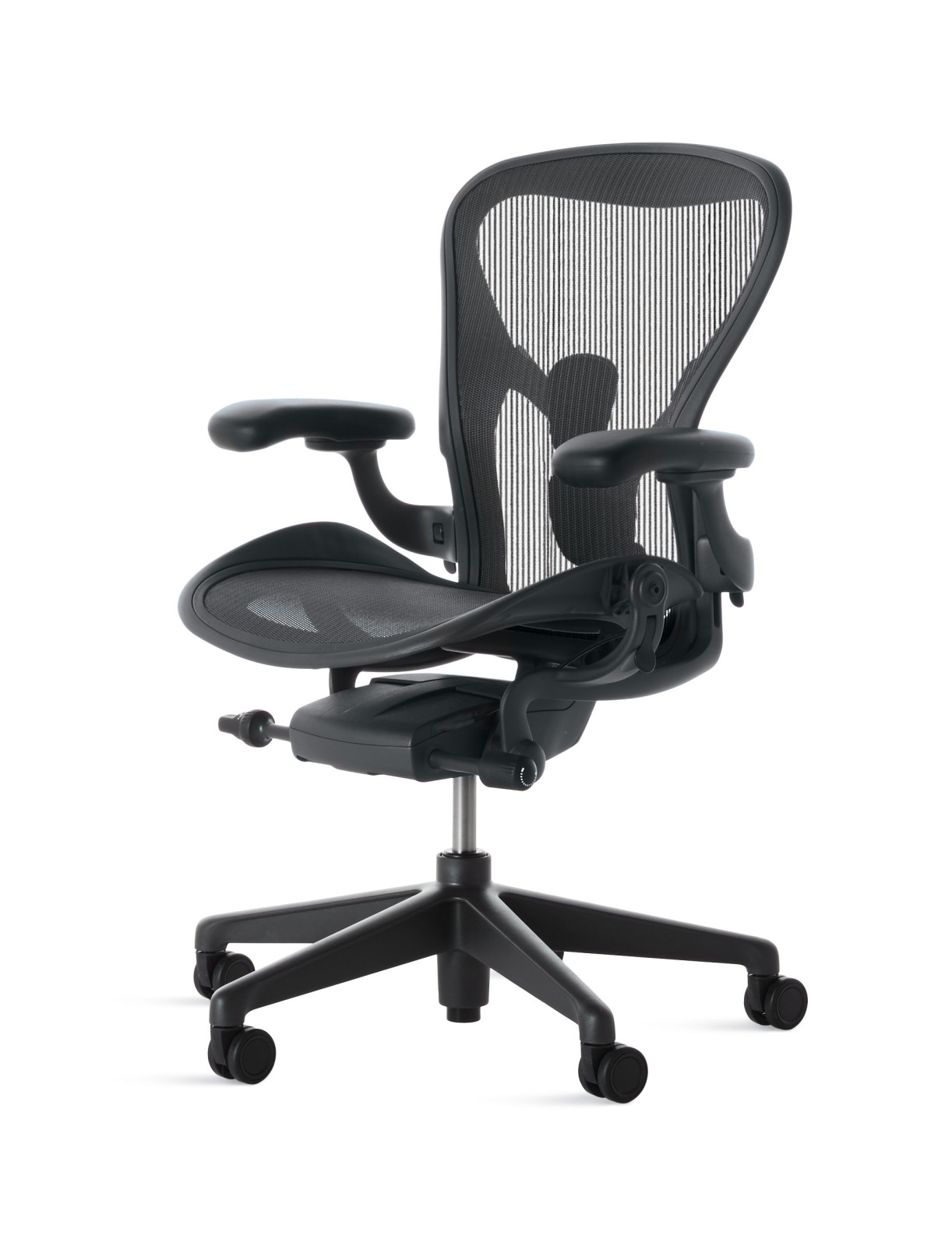 Aeron Task Chair Graphite Base with Graphite Seat