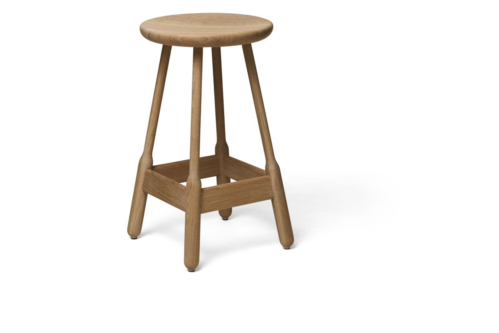 Albert Bar Stool Natural Oak, 65cm