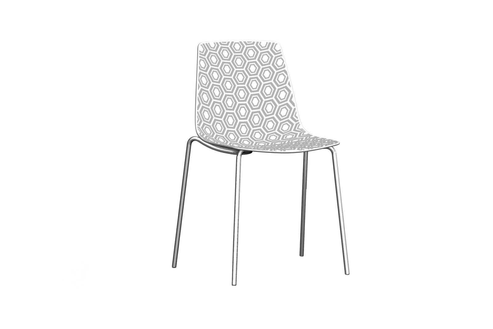 Alhambra NA Dining Chair Set of 8 Chromed Metal, 00/04