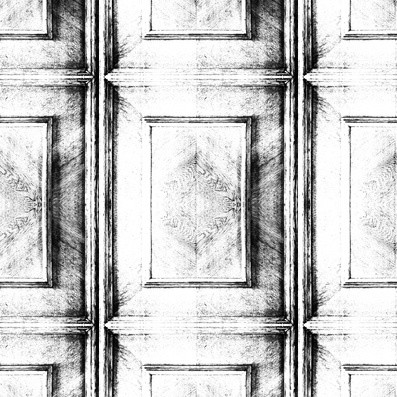 Dutch Inlay Panelling Wallpaper Almost White Dutch Inlay Panelling Wallpaper