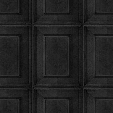 Dutch Inlay Panelling Wallpaper Charcoal Dutch Inlay Panelling Wallpaper