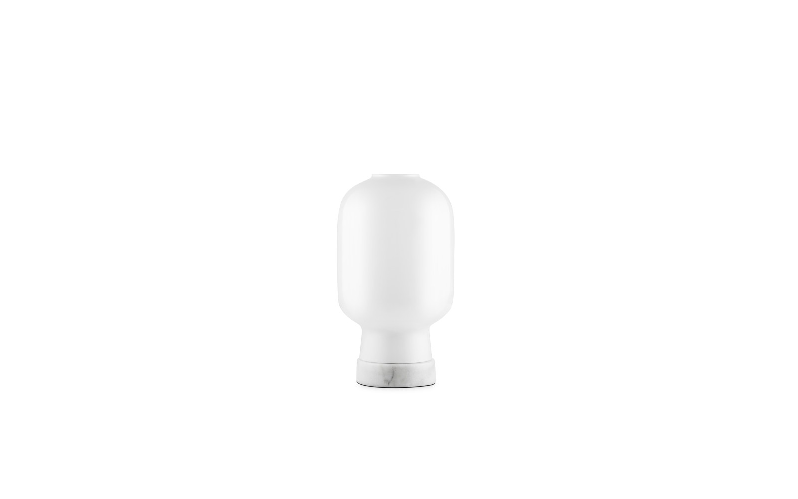 Amp Table Lamp White/White