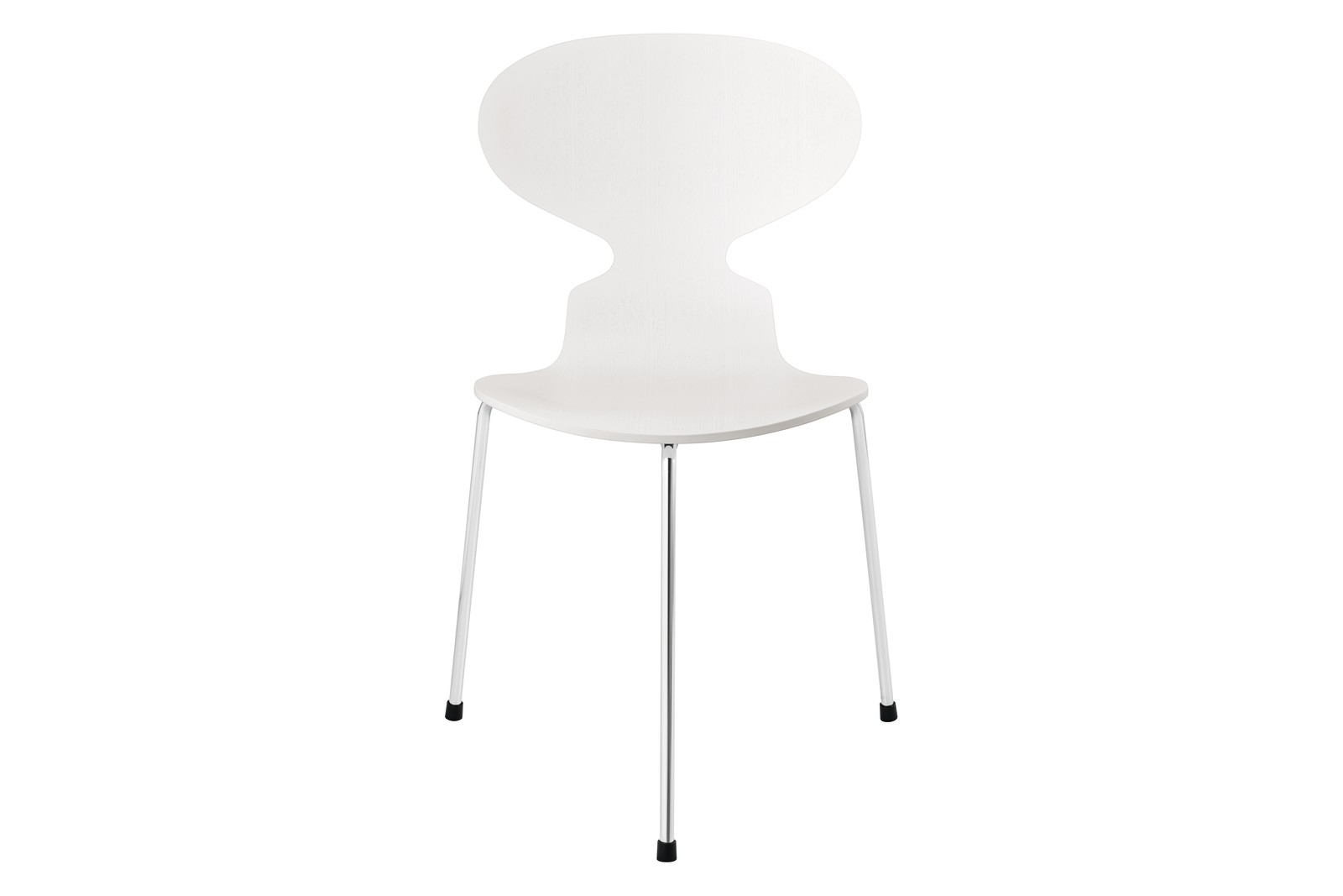 Ant Dining Chair - 3 Legs Base Coloured Ash White