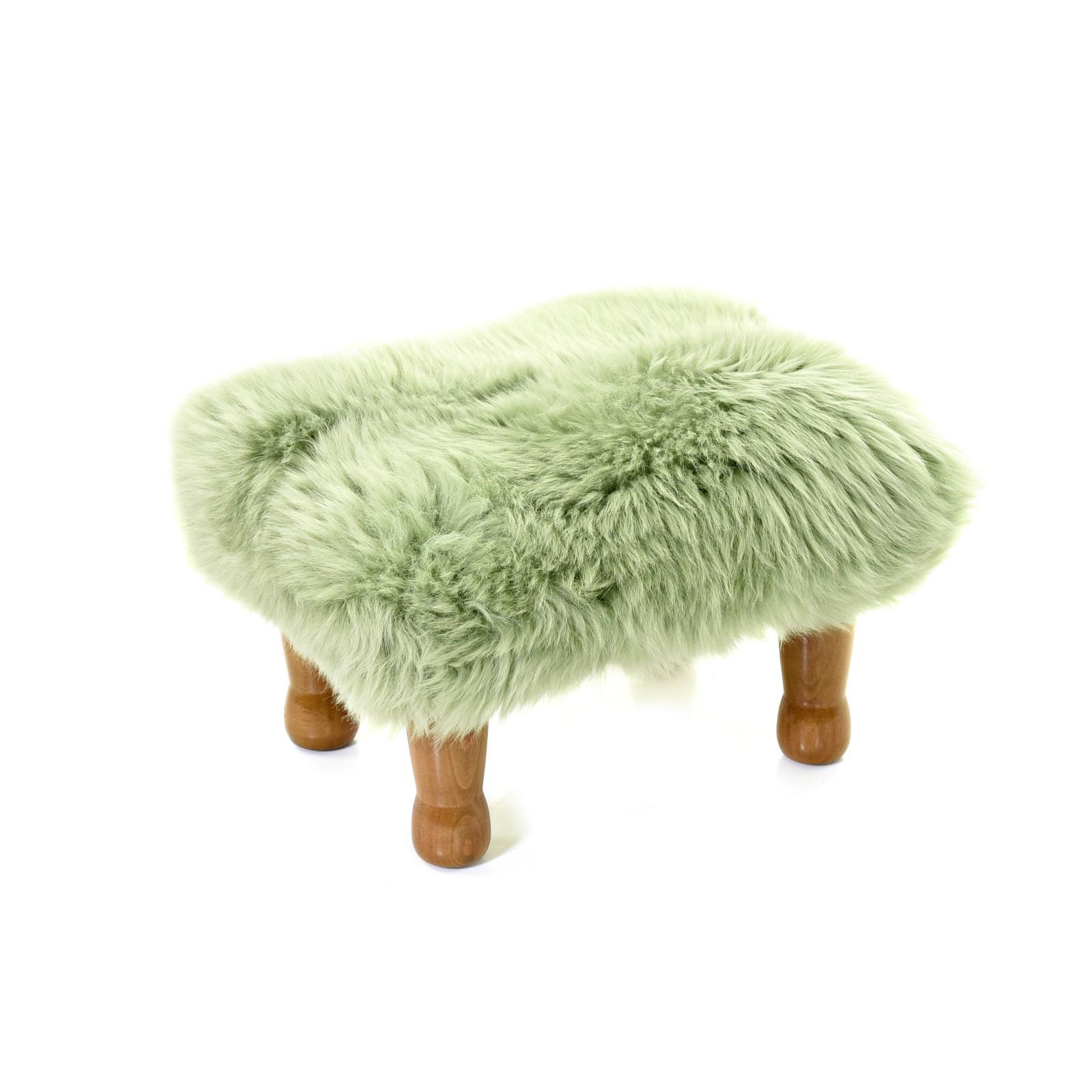 Anwen - Sheepskin Footstool Sage