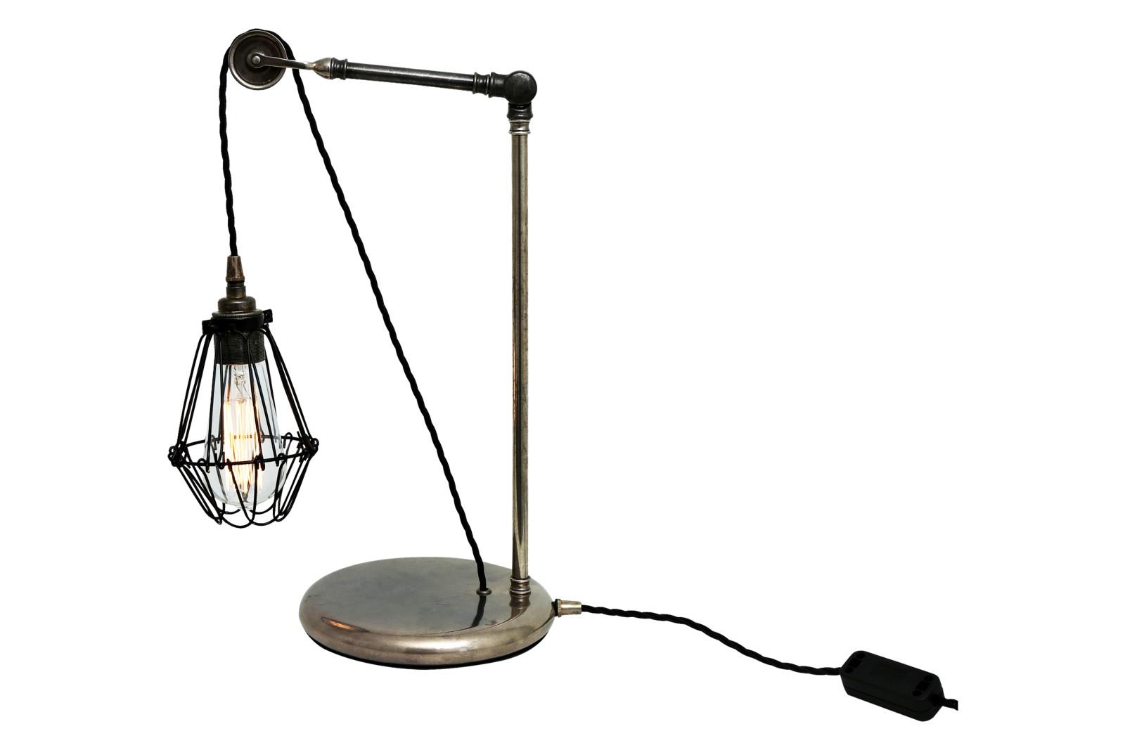 Apoch Table Lamp Antique Silver, EU Plug