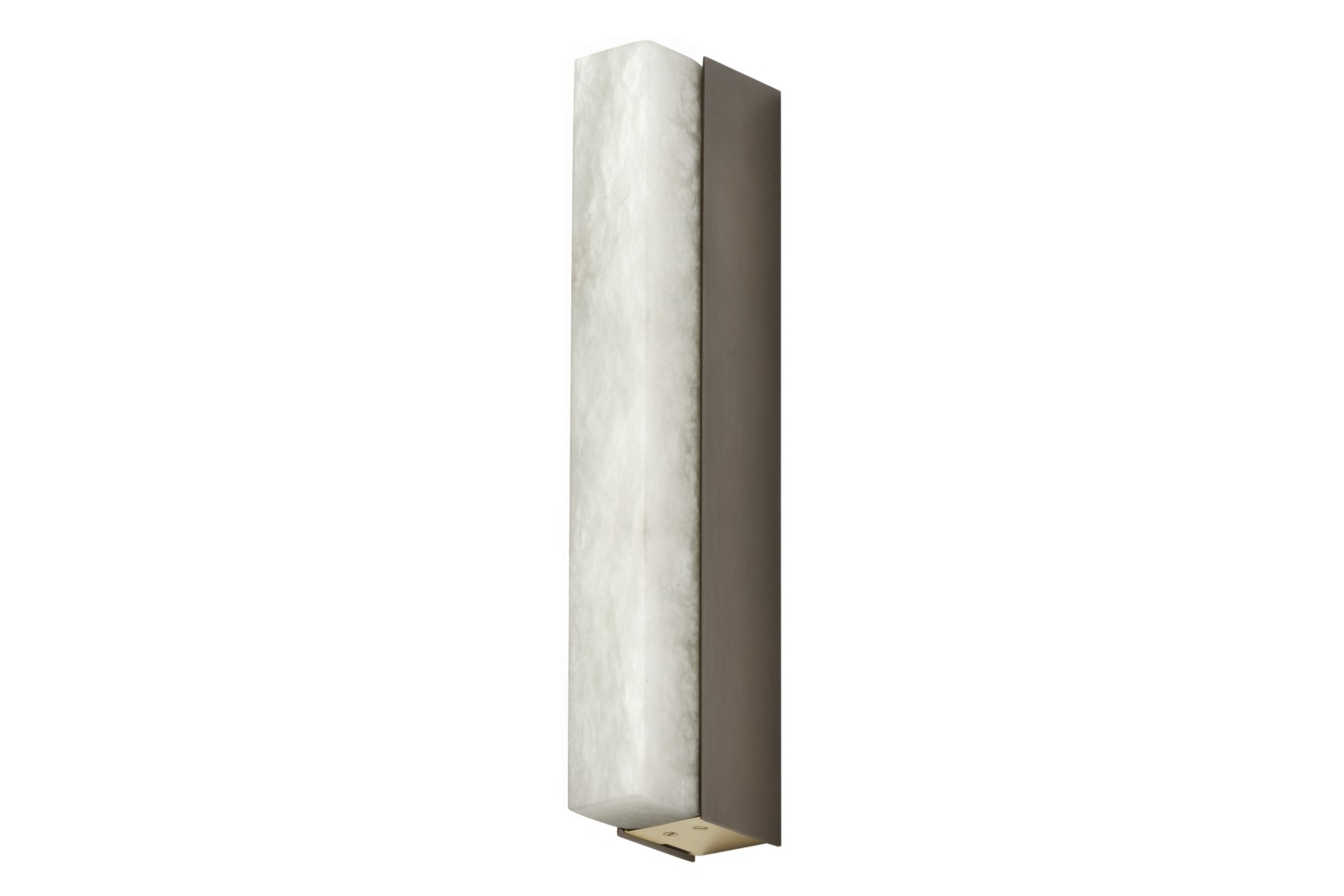 Artés Wall Light 300 bronze with satin brass details and honed alabaster
