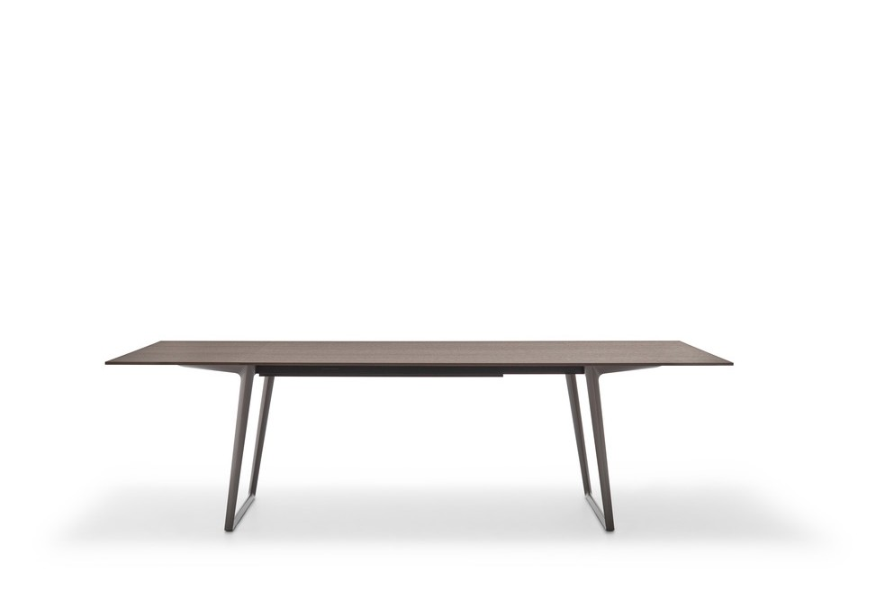 Axy Comfort Dining Table 90x280cm, Graphite Grey, Anthracite Oak
