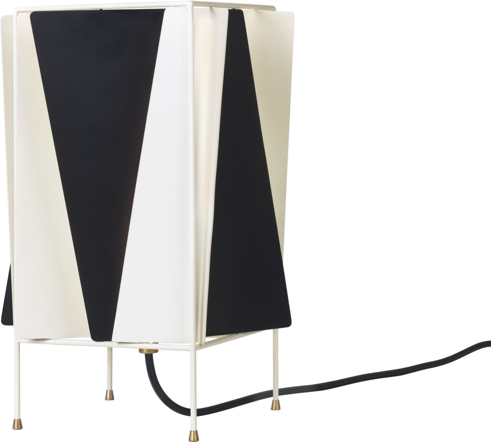 B-4 Table Lamp Black & White