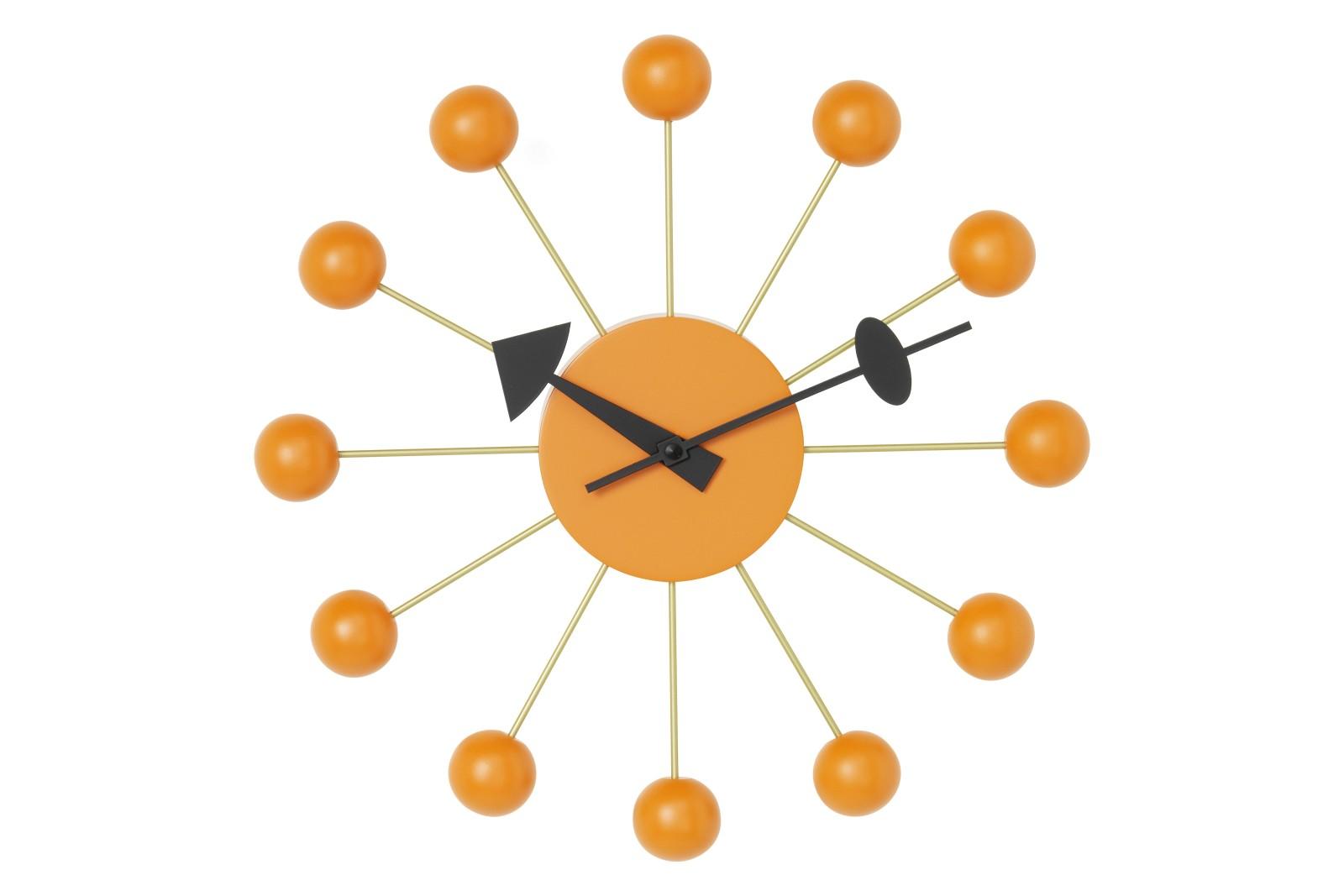 Ball Wall Clock orange