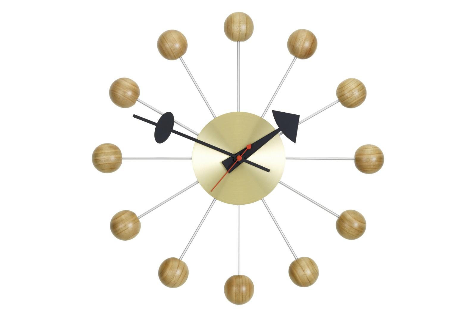 Ball Wall Clock cherry