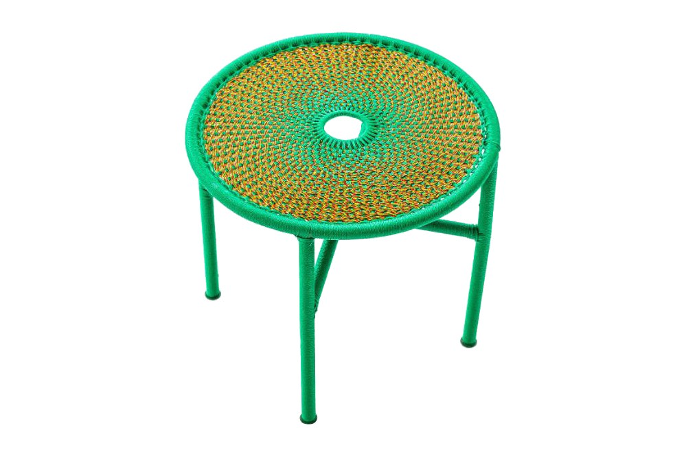 Banjooli Side Table Green / Orange, Large