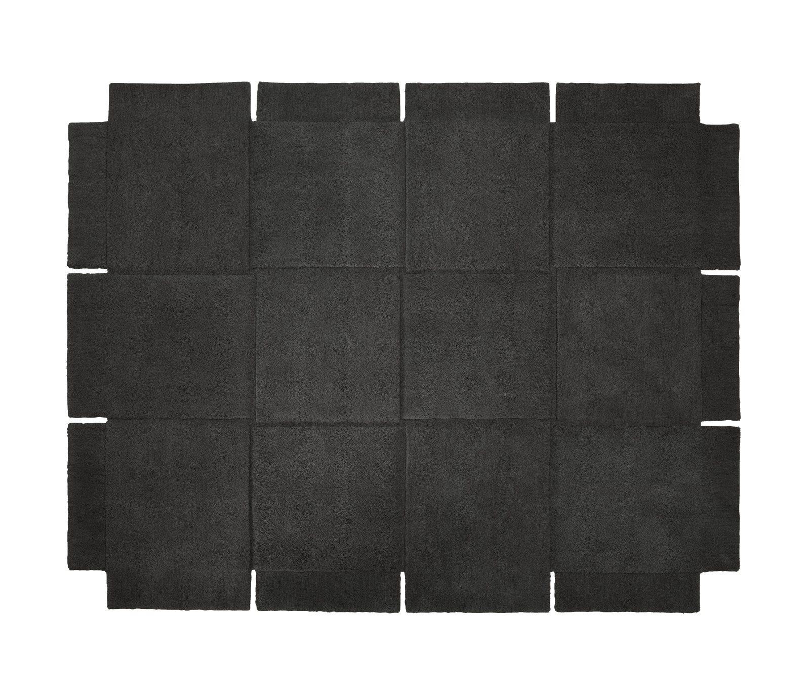 Basket Rug Grey, 185 x 240