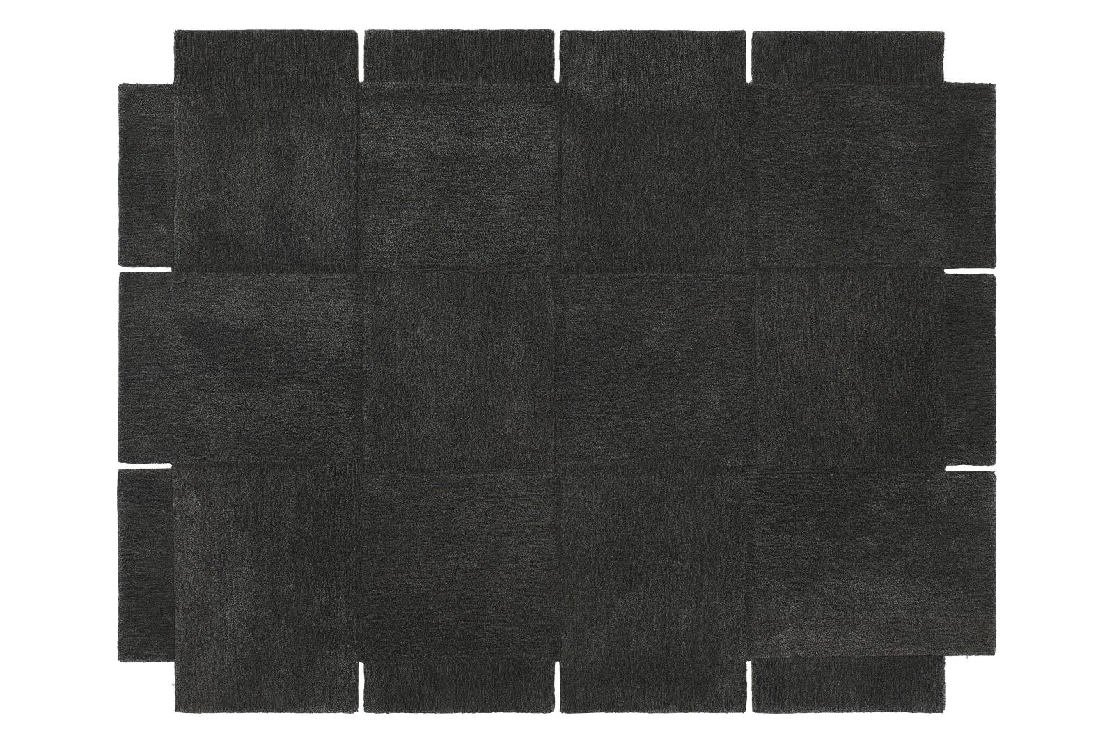Basket Rug Dark Grey, 185 x 240