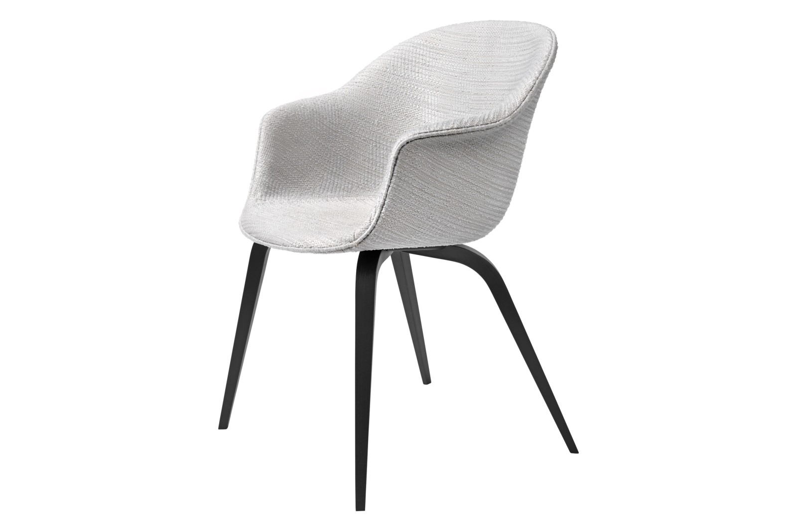 Bat Dining Chair - Fully Upholstered, Wood base Gubi Wood American Walnut, Price Grp. 01